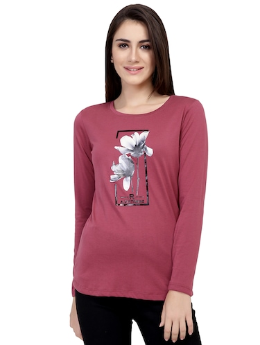 Graphic Print Long Sleeved Tee - 15726933 - Standard Image - 1
