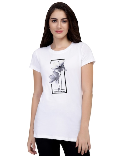 Graphic Print Short Sleeved Tee - 15726945 - Standard Image - 1