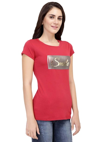 Letter Patch Short Sleeved Tee - 15726976 - Standard Image - 1
