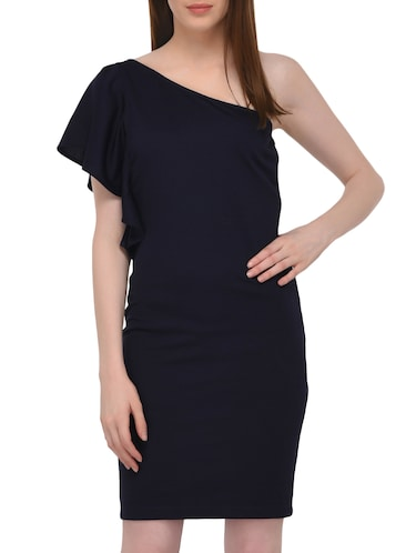 single shoulder sheath dress - 15727287 - Standard Image - 1