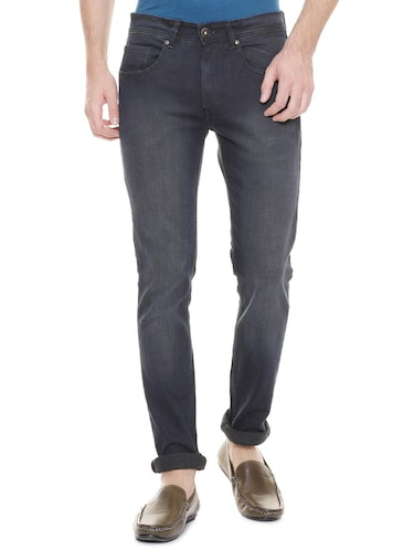 grey cotton blend washed jeans - 15728259 - Standard Image - 1
