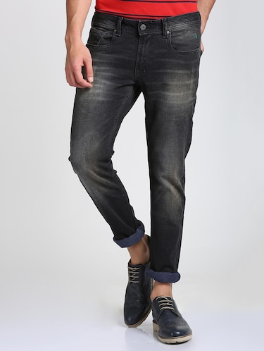black cotton blend washed jeans - 15728261 - Standard Image - 1