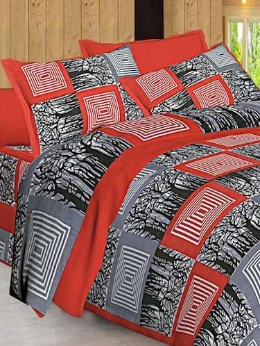 Jaipuri Print Cotton Double Bedsheet with Set of 2 Pillow Covers - 15728759 - Standard Image - 1