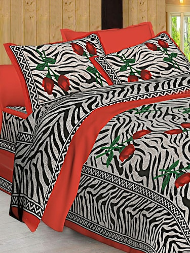 Jaipuri Print Cotton Double Bedsheet with Set of 2 Pillow Covers - 15728763 - Standard Image - 1