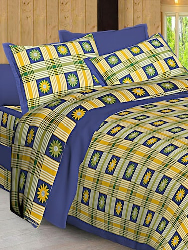 Jaipuri Print Cotton Double Bedsheet with Set of 2 Pillow Covers - 15728774 - Standard Image - 1