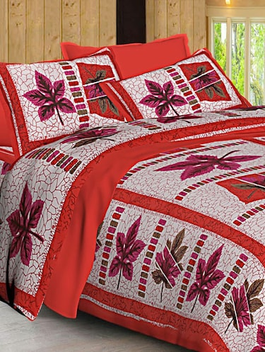 Jaipuri Print Cotton Double Bedsheet with Set of 2 Pillow Covers - 15728782 - Standard Image - 1