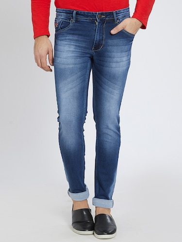 blue denim washed jeans - 15729563 - Standard Image - 1