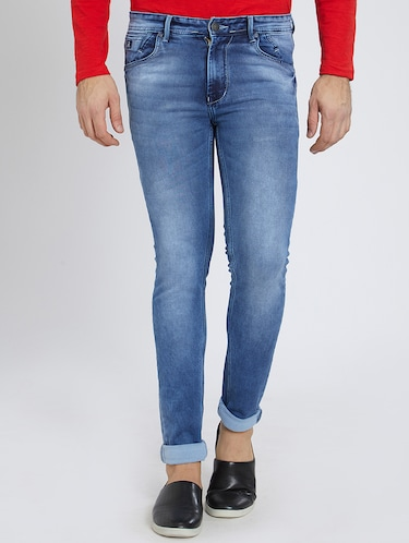blue denim washed jeans - 15729565 - Standard Image - 1