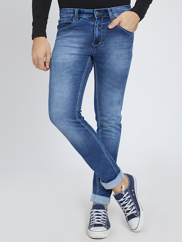 blue denim washed jeans - 15729567 - Standard Image - 1