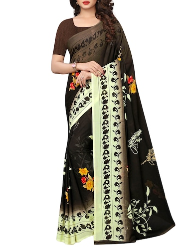 floral printed saree with blouse - 15729573 - Standard Image - 1