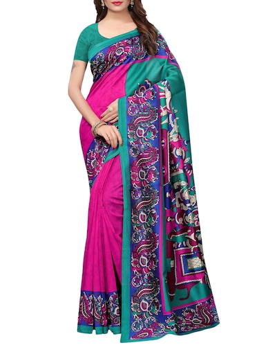kalamkari printed saree with blouse - 15729610 - Standard Image - 1
