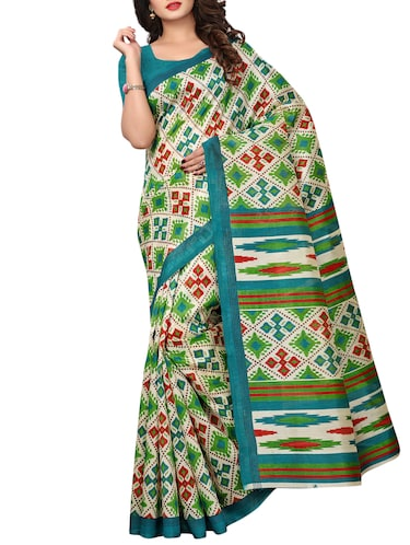 geometrical bhagalpuri saree with blouse - 15729653 - Standard Image - 1