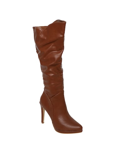 brown knee length boots - 15729819 - Standard Image - 1