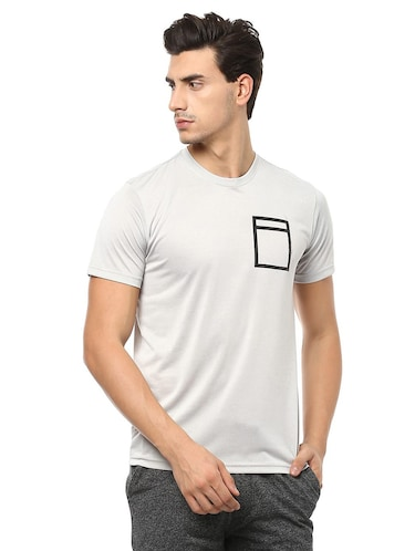 grey polyester t-shirt - 15729949 - Standard Image - 1
