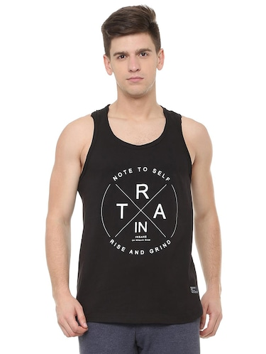 black cotton vest - 15729993 - Standard Image - 1