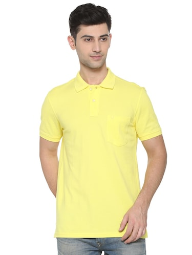yellow cotton pocket t-shirt - 15729997 - Standard Image - 1