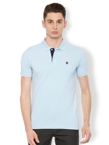 blue cotton polo t-shirt - 15730012 - Standard Image - 1