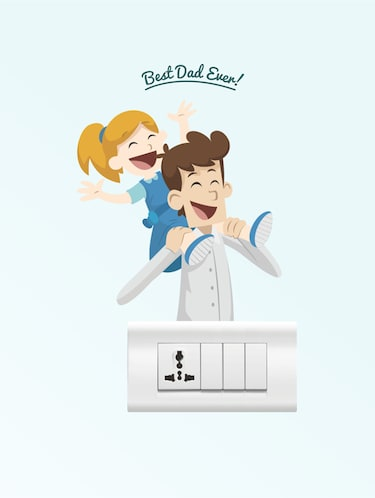 Wall Decals ' Best Dad Ever ' Wall stickers (PVC Vinyl) - 15730188 - Standard Image - 1