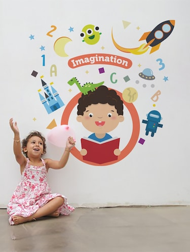 Wall Decals ' Imagination ' Wall stickers (PVC Vinyl) - 15730189 - Standard Image - 1