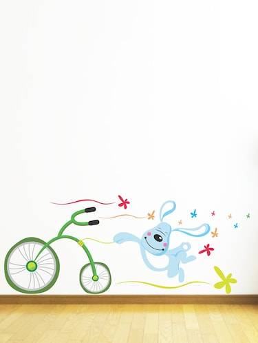 Wall Decals ' Dog and Cycle ' Wall stickers (PVC Vinyl) - 15730223 - Standard Image - 1