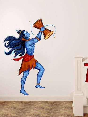 Wall Decals ' Lord shiva with Damru '  Wall stickers (PVC Vinyl) - 15730235 - Standard Image - 1