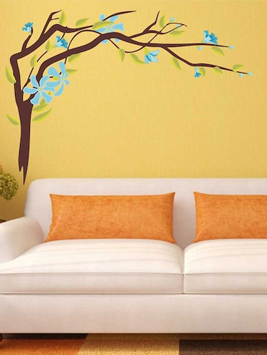 Wall Decals ' Blue Flower Sticker '  Wall stickers (PVC Vinyl) - 15730242 - Standard Image - 1
