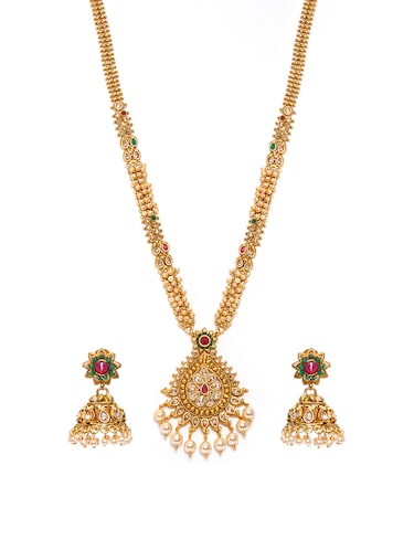 Gold Tone Necklace & Earrings Set - 15731246 - Standard Image - 1