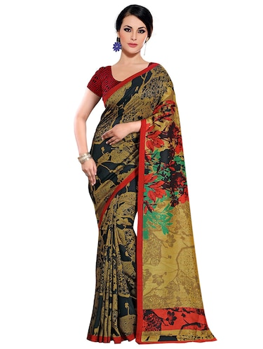 abstract printed bhagalpuri saree with blouse - 15731308 - Standard Image - 1