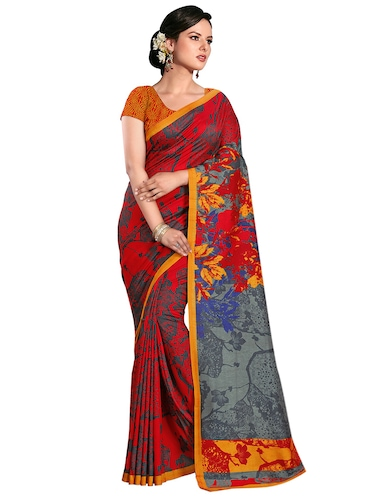abstract printed bhagalpuri saree with blouse - 15731310 - Standard Image - 1