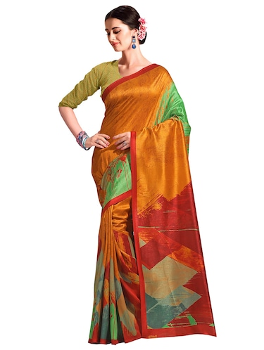 color block bhagalpuri saree with blouse - 15731319 - Standard Image - 1
