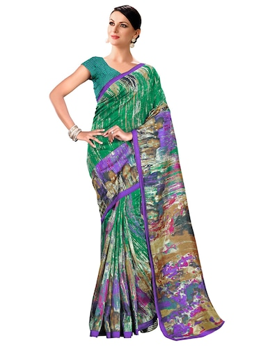 abstract bhagalpuri saree with blouse - 15731350 - Standard Image - 1