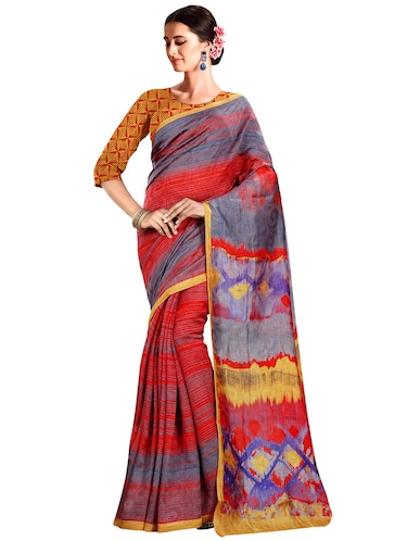 printed bhagalpuri saree with blouse - 15731374 - Standard Image - 1
