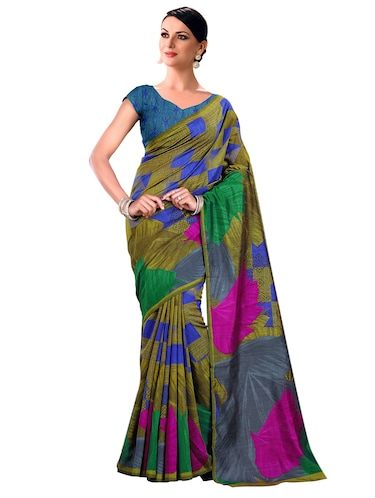 geometrical bhagalpuri saree with blouse - 15731382 - Standard Image - 1