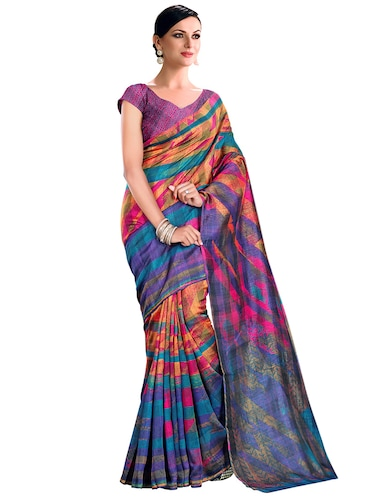 printed bhagalpuri saree with blouse - 15731386 - Standard Image - 1