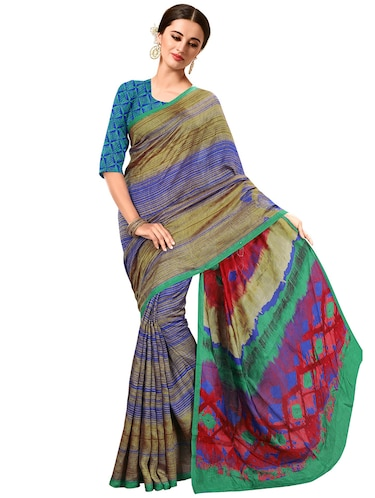 printed bhagalpuri saree with blouse - 15731387 - Standard Image - 1