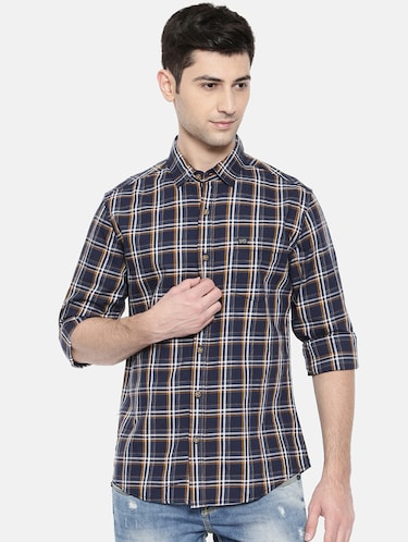 blue cotton casual shirt - 15731554 - Standard Image - 1