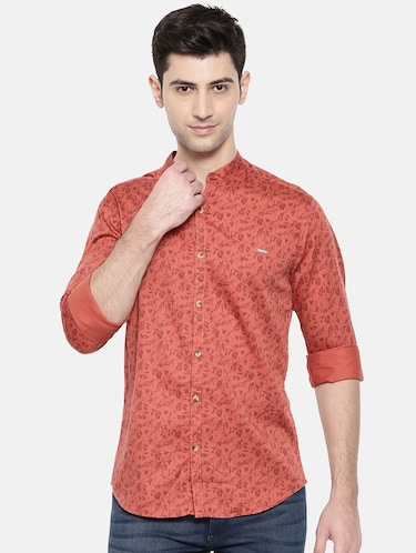 red cotton casual shirt - 15731561 - Standard Image - 1