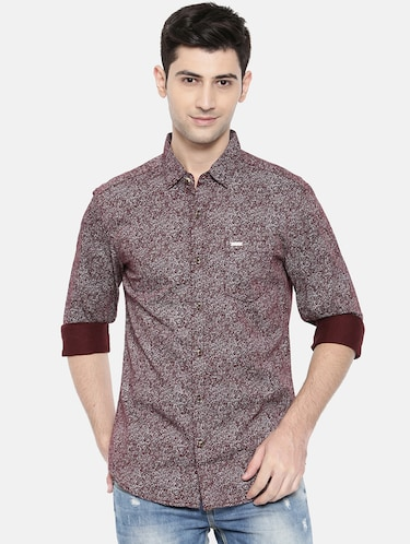 red cotton casual shirt - 15731569 - Standard Image - 1