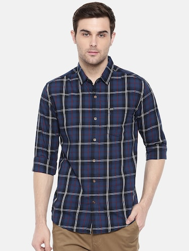 blue cotton casual shirt - 15731585 - Standard Image - 1