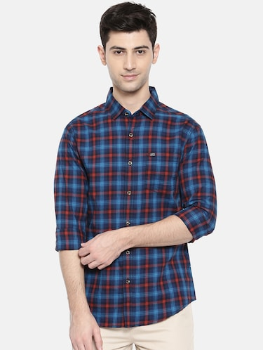 blue cotton casual shirt - 15731589 - Standard Image - 1