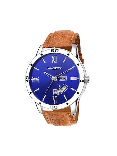 Round dial analog watch (910101BL) - 15731695 - Standard Image - 1