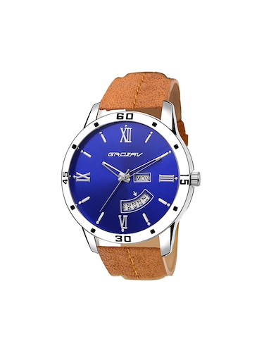 Round dial analog watch (910101BL) - 15731699 - Standard Image - 1