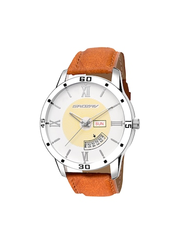 Round dial analog watch (910101WT) - 15731716 - Standard Image - 1