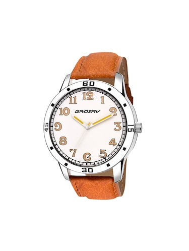 Round dial analog watch (910105WT) - 15731739 - Standard Image - 1