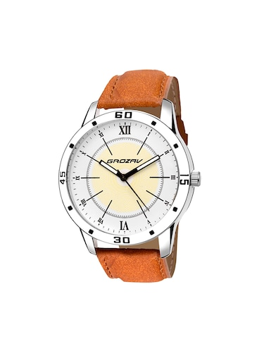 Round dial analog watch (910106WT) - 15731745 - Standard Image - 1
