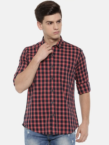 red cotton casual shirt - 15731792 - Standard Image - 1