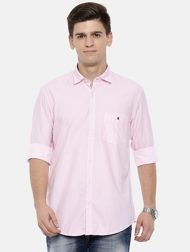 pink cotton casual shirt - 15731804 - Standard Image - 1