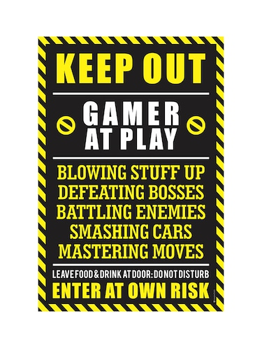 "Rawpockets""Keep Out Gamer at Play""Wall posters (PaperBoard,33cmX48cm) - 15731941 - Standard Image - 1"
