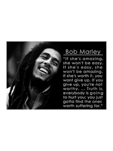 "Rawpockets""Bob Marley Quotes""Wall posters (PaperBoard,33cmX48cm) - 15732009 - Standard Image - 1"