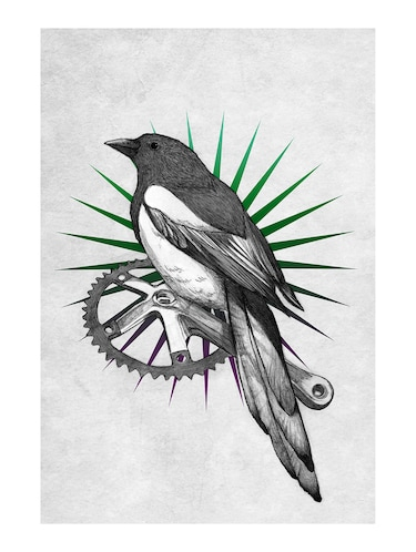 "Rawpockets""Bird on Wheel""Wall posters (PaperBoard,33cmX48cm) - 15732113 - Standard Image - 1"